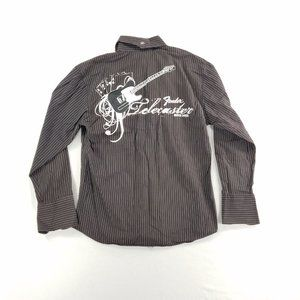 Fender Button Down L/S Embroidered Brown Shirt